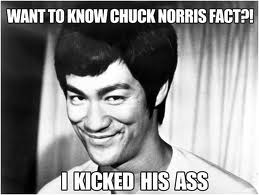 It takes a hell of a lot of technique to kick Chuck Norris A$$!