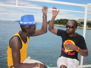 Olu Olu and Chilly catching up on a Boat in Croatia. We are SORRY if you were not there.