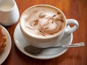Olu loves his coffee